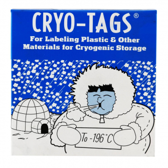 247132 - Cryo-Tags Labels, Roll, 1 5 x 0 75 Inches, White